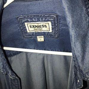 Dark blue jean shirt